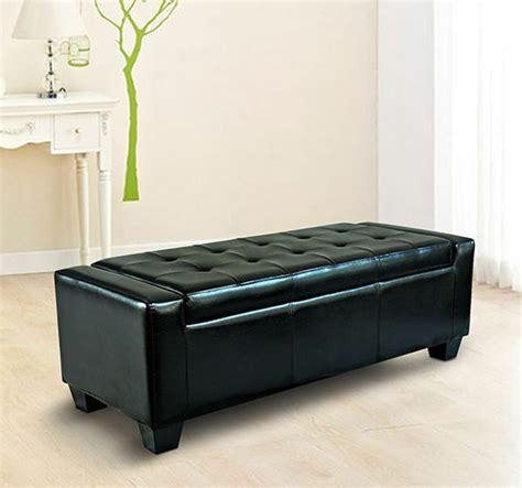 modern ottoman bench homcom modern faux leather ottoman footrest sofa shoe