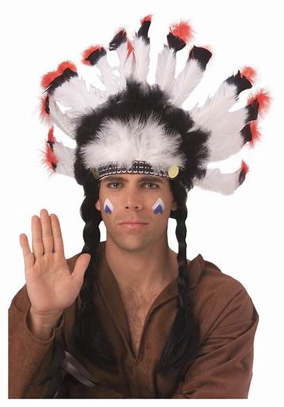 Headdress Indian Native Feather American Feathered Costume