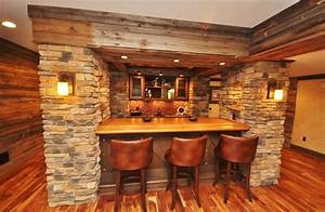 Western themed basement - Rustic - Home Bar - Other - by