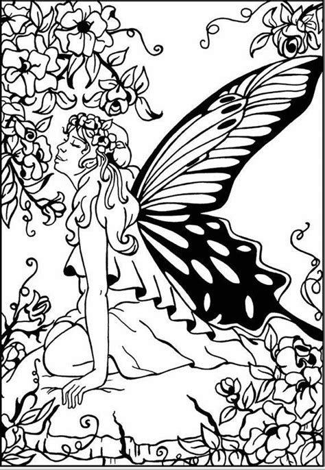 Springfairy | Dover coloring pages, Coloring pages, Free coloring pages