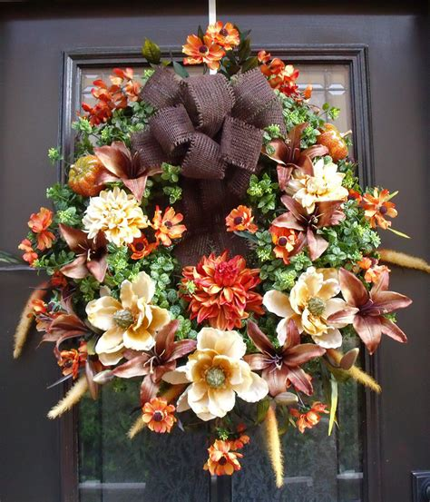 fall wreaths autumn wreath harvest decor fall decorations