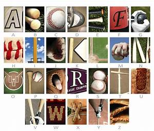Personalized baseball name art for Personalized baseball letter art