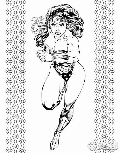 Wonder Woman Dc Comics Justice League Coloring