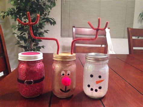 jar christmas crafts holiday crafts made out of mason jars i made them all by myself jolynn santa mason jar