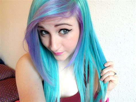 Hair Blue by Dying My Hair Blue Purple