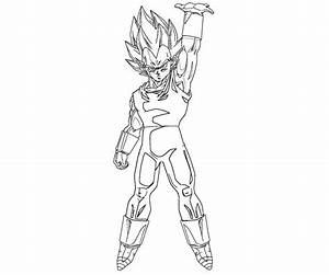 Vegeta 2 Coloring | Crafty Teenager