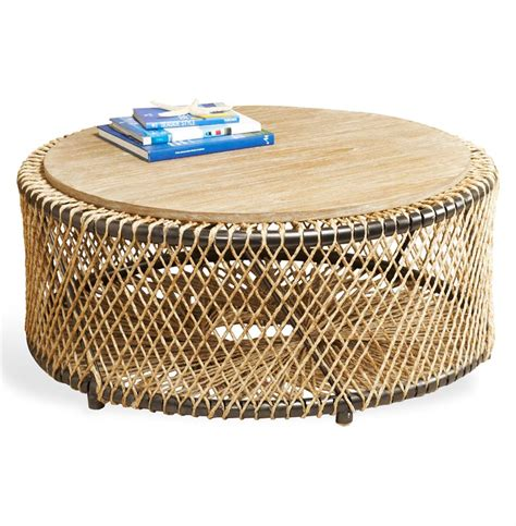 beach wood coffee table saranda beach style wood round coffee table kathy