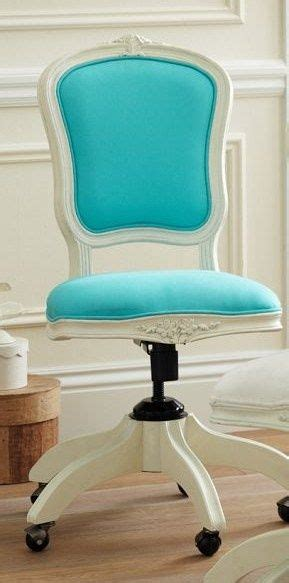turquoise office louis desk chair tiffany blue office