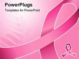 pink ribbon can be used for background breast cancer With breast cancer ppt template
