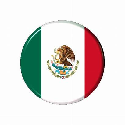 Mexico Flag Bandera Mexicana Mexican Banderas Button