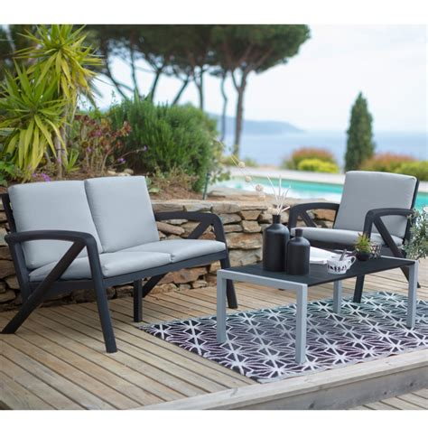 salon de jardin d occasion salon de jardin lounge sunday barcelone design grosfillex