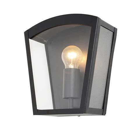 hamble outdoor lantern curved wall light black from