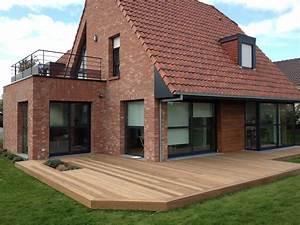 extension maison en bois toit terrasse galerie avec With extension de maison avec toit plat
