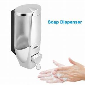 Wall Mount Manual Liquid Soap Dispenser Bathroom Shower
