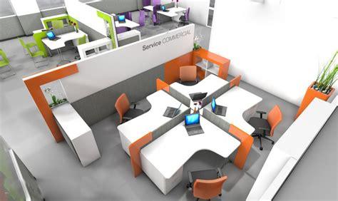 bureau en open space agencement bureaux open space idée bureaux entreprise