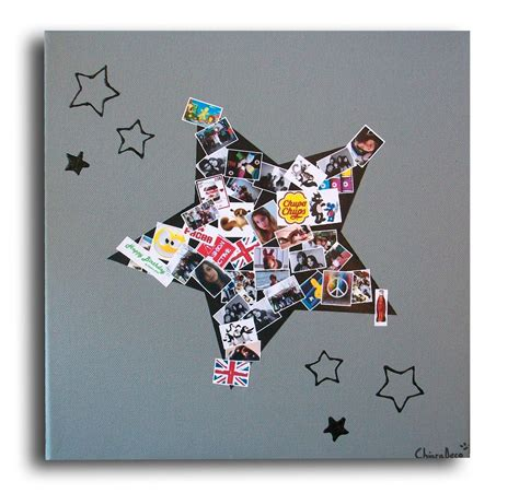 tableau album photos id 233 e cadeau chambre adolescent gar 231 on d 233 corations murales par chiaradeco