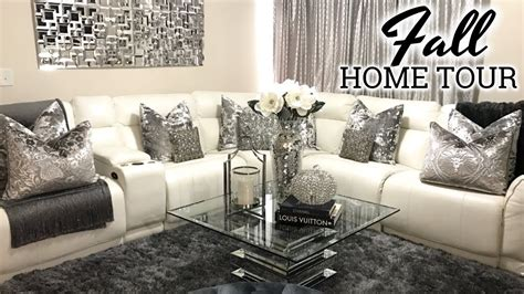 glam fall home   living room  dining room