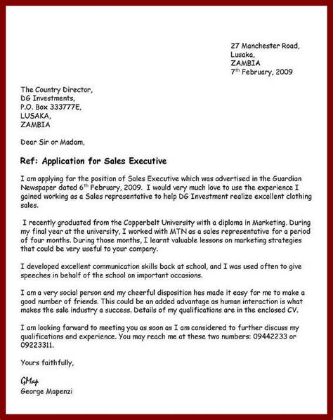 how to write an application letter template writing an