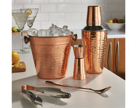 Bar Accessories For by 5 Pcs Copper Cocktail Shaker Gift Set Mixer Home
