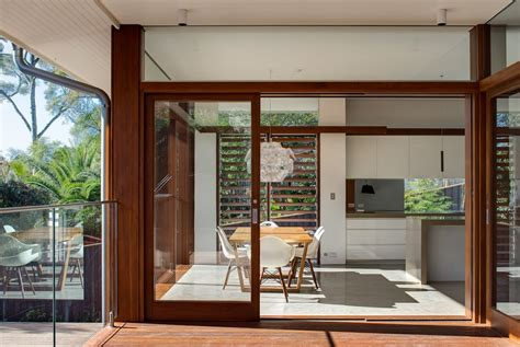 patio doors glass balustrading contemporary home in