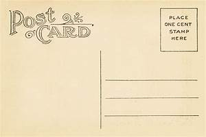 Vintage Postcard Back Template Vintage postca | design ...