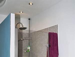 Douche Encastrable Plafond : fixer des spots dans une douche ~ Premium-room.com Idées de Décoration