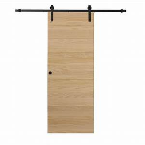 pinecroft 36 in x 84 in timber hill horizontal With 84 inch barn door hardware