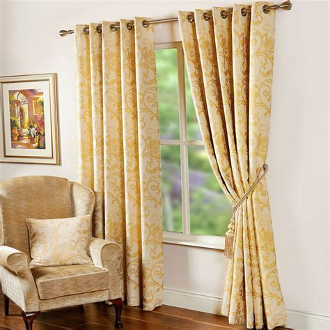 Gold And White Curtains Uk by Scatter Box Andrea Floral Embroidered Lined Eyelet