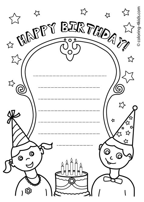 happy birthday printables coloring pages coloring