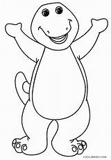 Barney Coloring Printable Cool2bkids sketch template