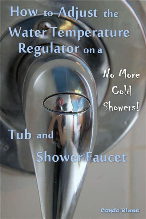 adjust  shower water temperature valve pinterest
