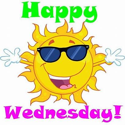 Wednesday Sunshine Happy Wrap Hump Cartoon Morning