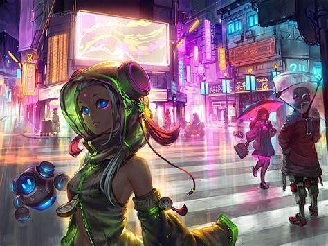 Sci Fi Anime Wallpaper - 1920x1080 anime cyberpunk scifi city laptop hd 1080p