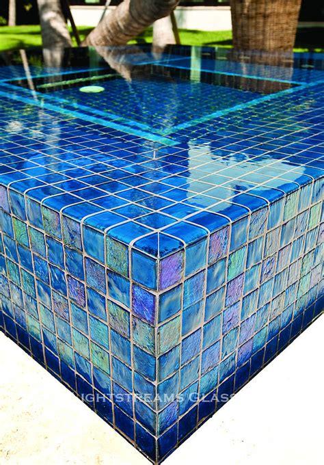 lightstreams all glass pool tile peacock blue and aqua