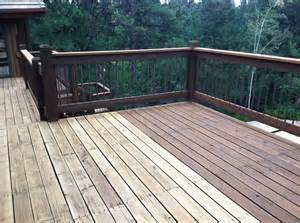 cabot deck stain in semi solid bark mulch half stained best deck stains stains