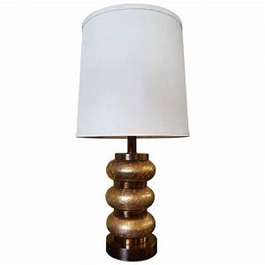 paul hanson gold crackle glass orb table lamp for sale at With gold crackle floor lamp