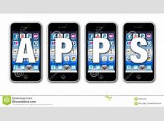 Apps For Social Networking On Mobile Phone Editorial Stock