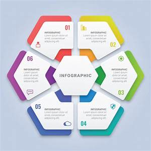 Modern 3d Infographic Hexagon Template With Six Options