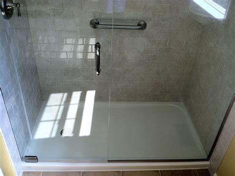 fiberglass shower base pan with simple freedom ada