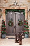20 Great Christmas Front Door Decorating Ideas Style Motivation This Entry Is Part Of 50 In The Series Beautiful Christmas Decor Ideas Christmas Door Hanger Christmas Door Decor Santa Hat Door Hanger Door Christmas Decorating Ideas 30 Stunning Red Christmas Decorations