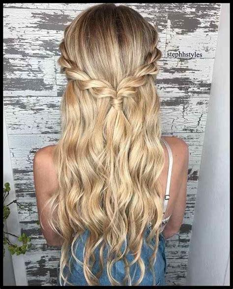 braid half up half down hairstyle ideas prom hairstyles