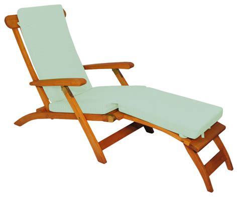Steamer Chair Cushions Sunbrella by Teak Steamer Chair Chaise Lounge With Sunbrella Cushion