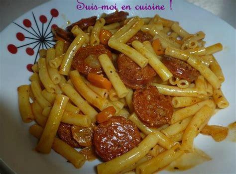 cuisine portugaise en macaronis au chorizo quot massa com chouriço quot suis moi en