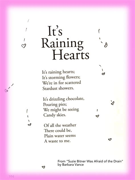 raining hearts childrens poems