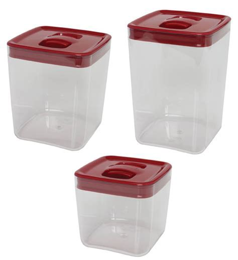 ClickClack Food Storage Containers   Large Red in Plastic