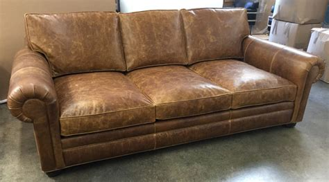 48 inch loveseat langston leather sofa in italian brentwood leather