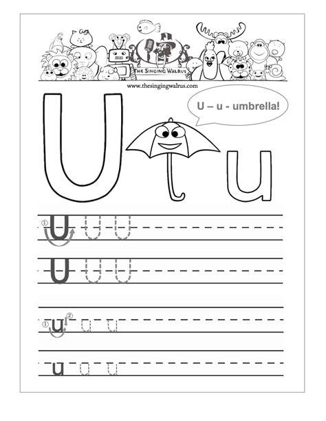 free printable tracing letter u worksheets for preschool