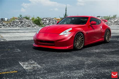 Nismo 370Z Goes Red Hot on Vossen Wheels [Video ...
