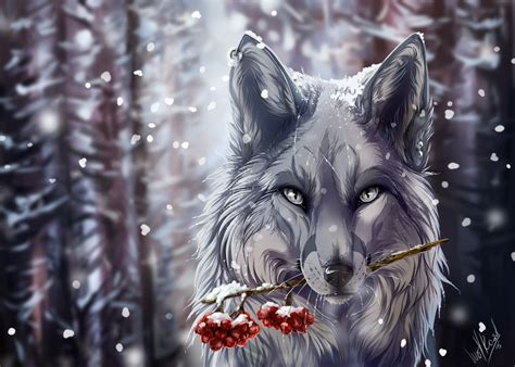 Beautiful Anime Wolf Wallpaper by Anime Wolves Wallpapers Wallpapersafari