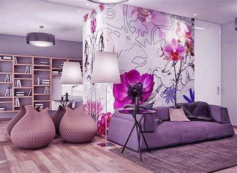 Purple And Silver Bedrooms by Modern Interior Decorating With Pink Color Combinations